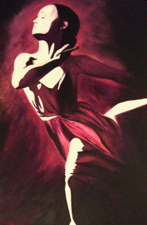Tänzerin Acryl auf Leinwand 60x90cm