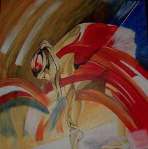Ballerina Acryl auf Leinwand 90x80