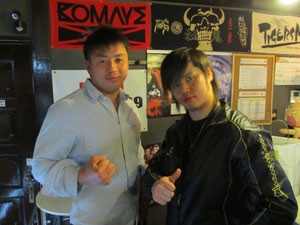 崔領二選手、橋本大地選手