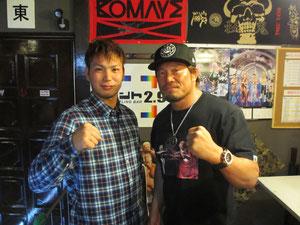 小峠篤司選手(左)、杉浦貴選手(右)