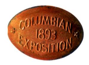 De eerste geperste souvenir munt ooit gemaakt