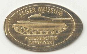 Delft Leger museum - motief 1 gemaakt met een messing Jeton