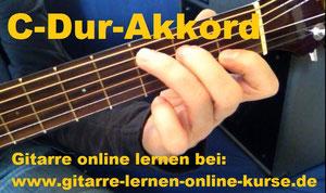 Gitarre online lernen: C-Dur Gitarrengriff
