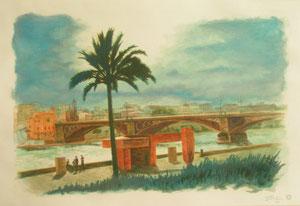 Palmera, Chillida y puente de triana.