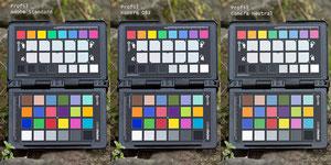 Der ColorChecker mit verschiedenen Profilen