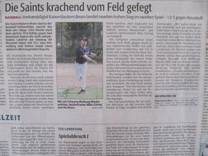 Rheinpfalz 23.04.2013