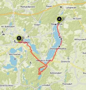 Übersichtskarte Bad Saarow- Storkow