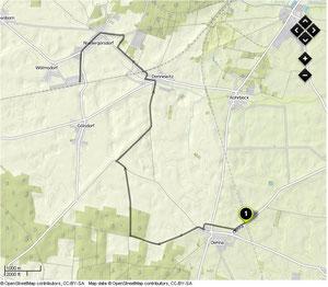Übersichtskarte Oehna- Niedergörsdorf