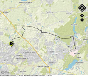 Übersichtskarte Hönow- Strausberg