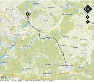Übersichtskarte Strausberg- Fürstenwalde(Spree)