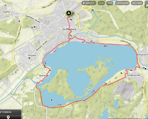 Übersichtskarte um den Senftenberger See