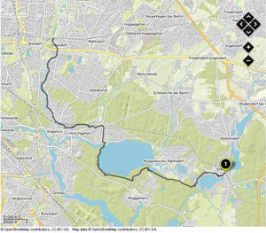 Übersichtskarte Erkner- Wuhletal