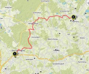 Übersichtskarte Hermsdorf- Kamenz