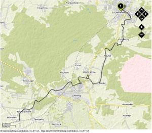 Übersichtskarte Luckenwalde- Niedergörsdorf