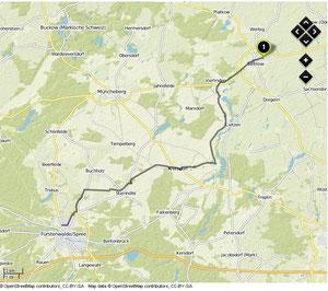 Übersichtskarte Seelow- Fürstenwalde/Spree