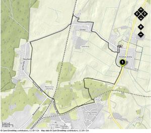 Übersichtskarte Kloster Zinna Runde