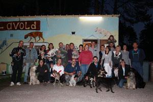 Soirée au club canin avec notre groupe d'agility