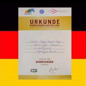 """Diplôme du titre de """"Bundessieger"""""""