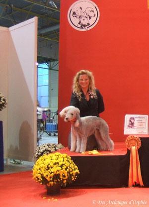 Podium de la Meilleure paire de l'exposition avec Olga.