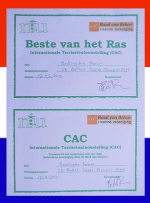 Olga décroche le titre de Championne des Pays-Bas..