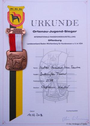 Tsarine Championne Junior d'Ortenau /Baden-Württemberg (Allemagne).