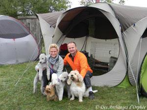 avec nos 5 mousquetaires et notre nouvelle tente.
