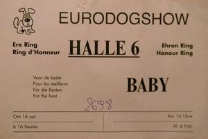 Tsarine Best Baby de la race à l'Eurodogshow.
