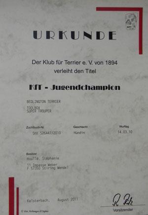 Championne d'Allemagne Jeune KfT.