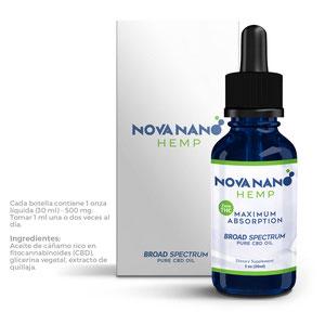 Conoce Nova Nano Hemp (Aceite de CBD)