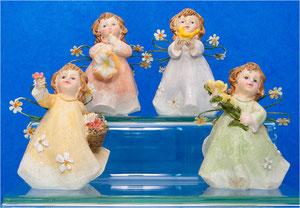 Anges fleurs resine a l unite 10€ ref 007