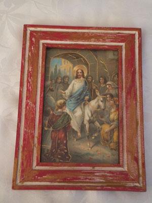Entree de Jérusalem      Cadre religieux 19/14cm 14.90€
