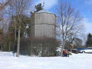Winteransicht des Wasserturmes