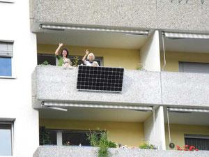 Anwendung am Balkon
