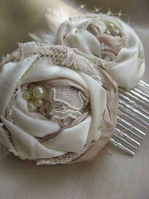 Crystal and Pearl Hair Combs