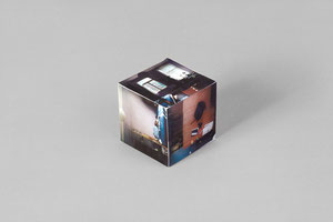 Raumstudie II . 2011 . Toner auf Papier . 5 x 5 x 5 cm