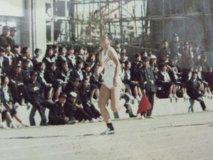 中学校陸上揖龍大会100m2位