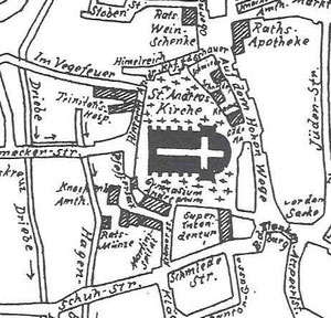 Das hl.Geist Hospital der Familie Pepersack lag unweit des Andreanum