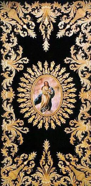 Techo del palio de la Virgen.