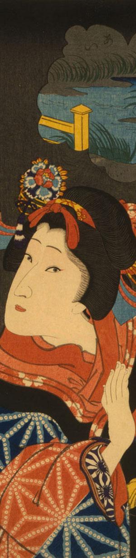 Die jungen Maiden Oshichi  (1867) von Utagawa Kuniteru