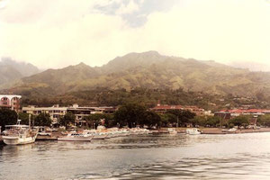 Vue sur le front de mer de Papeete