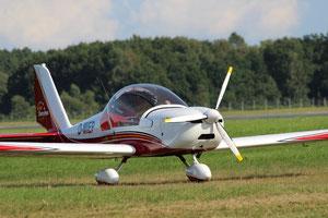 Ultraleichtflugzeug Eurostar EV97 der Segelflugschule Lübeck