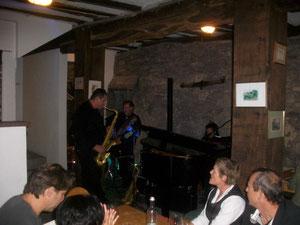 Edgar Demling beim Saxophon-Solo