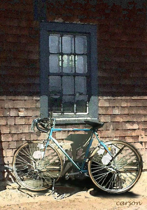 Window and bike