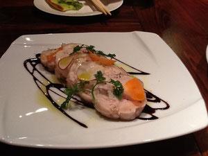 山梨県の地鶏をバルサミコソースで!