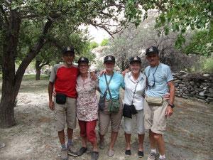 Les Bretons en trek avec les baskettes de Ratna Voyages