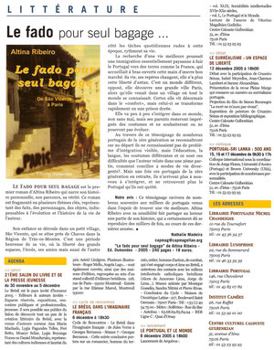 Article CAP MAG n° 140 - dec 2005