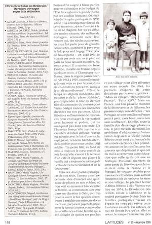 Latitudes, cahiers lusophones n°25 dec 2005 p2