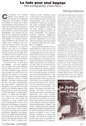 Latitudes, cahiers lusophones n°25 dec 2005