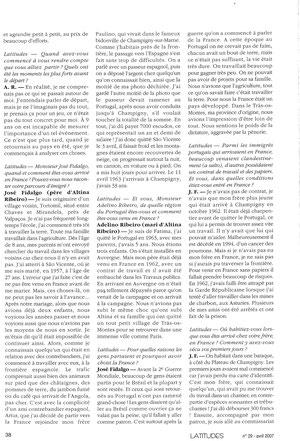 Latitudes, cahiers lusophones n°29 avril 2009 (suite)