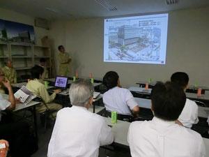 竹中工務店から工法や進捗状況などについて説明を受けました